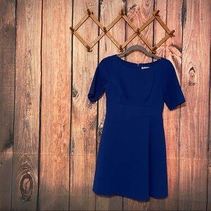 Eliza J Short Sleeve Boatneck A-Line Dress